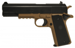 COLT 1911A1 TAN/BLACK 6MM FJÄDERPISTOL