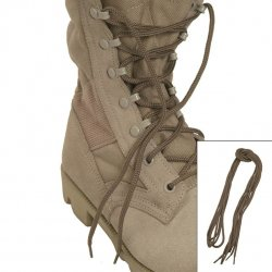 MIL-TEC COTTON SHOE LACES 180 CM, COYOTE