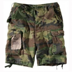 US Paratrooper Shorts Woodland