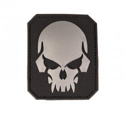 Patch PVC Dödskalle, Stor