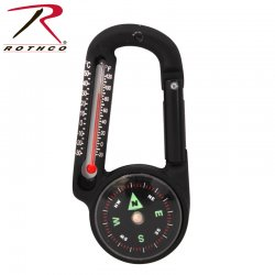 Rothco Carabiner Compass med Thermometer