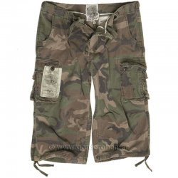 Mil-Tec US Air Combat 3/4 Shorts Woodland