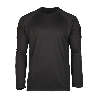 US Tactical Quick Dry Långärmad t-shirt, svart