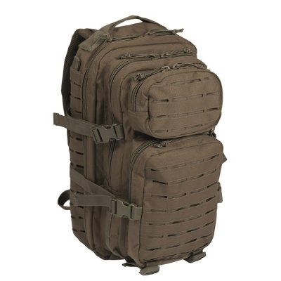 Mil-Tec Assault Pack laser cut olivgrön small