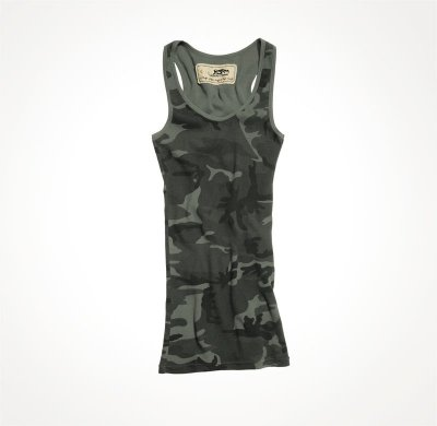 LADIES ANGELS TOP SVART CAMO