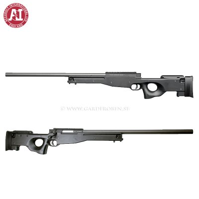 Airsoftrifle, spring, AW 308 sniper, black