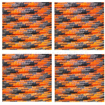 Paracord 30 meter Orange Blaze Camo