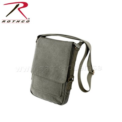 Rothco Vintage Canvas Military Tech Bag, olivgrön
